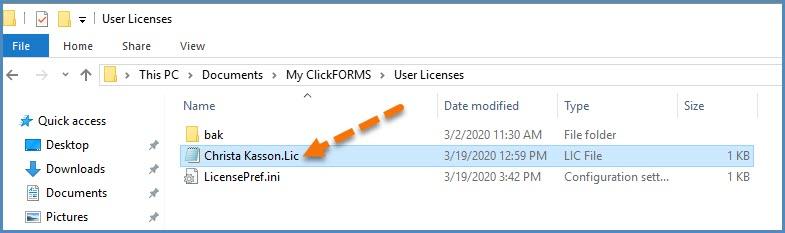 License file