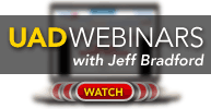 Watch free webinars about UAD Interfaces with Jeff Bradford