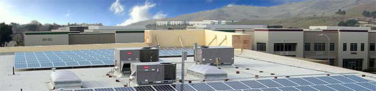 Bradford Technologies Headquarters solar roof array