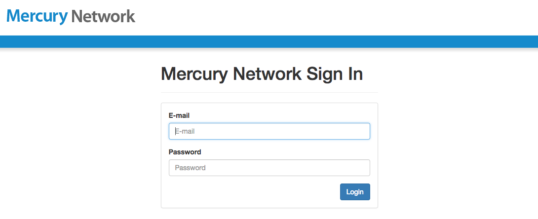Mercury Network Sign In